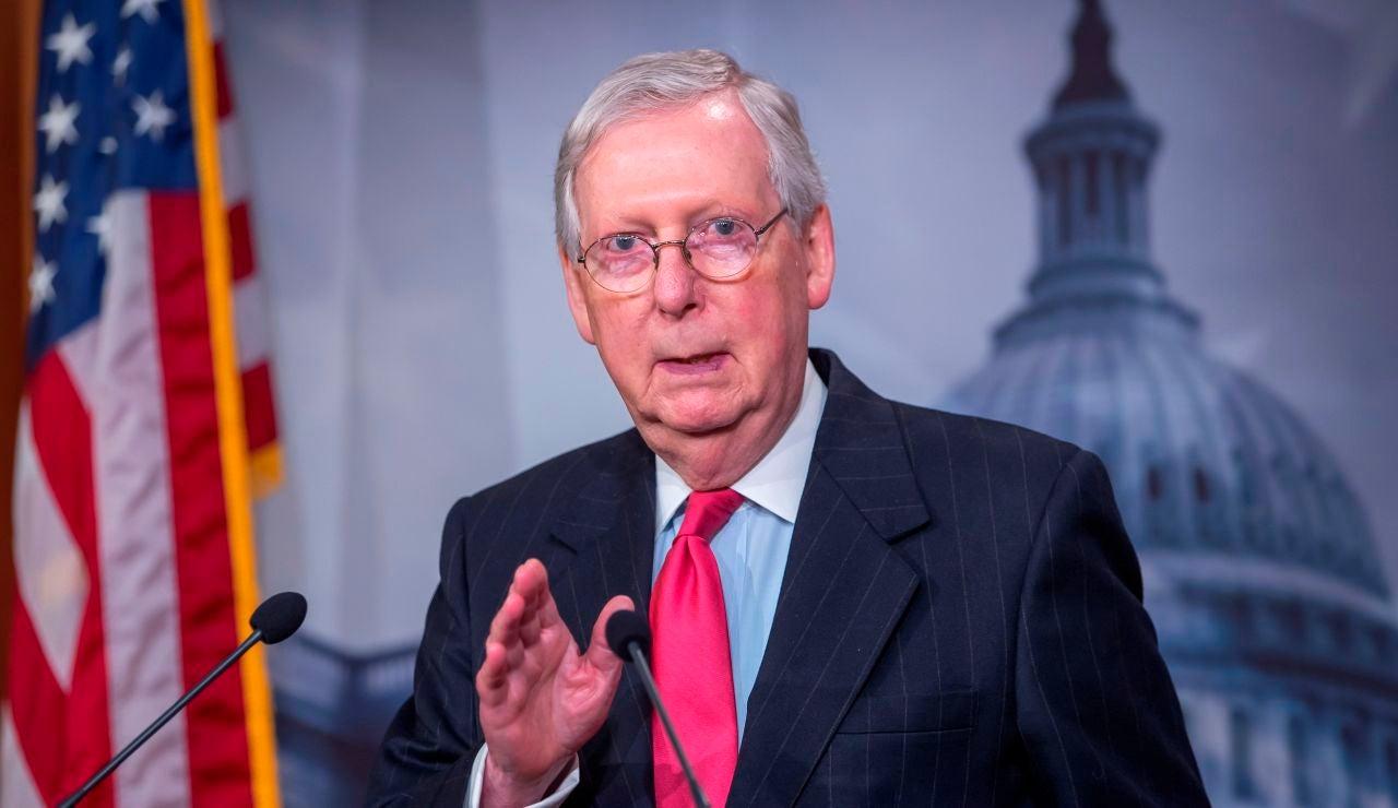 El líder de la mayoría republicana en el Senado, Mitch McConnel