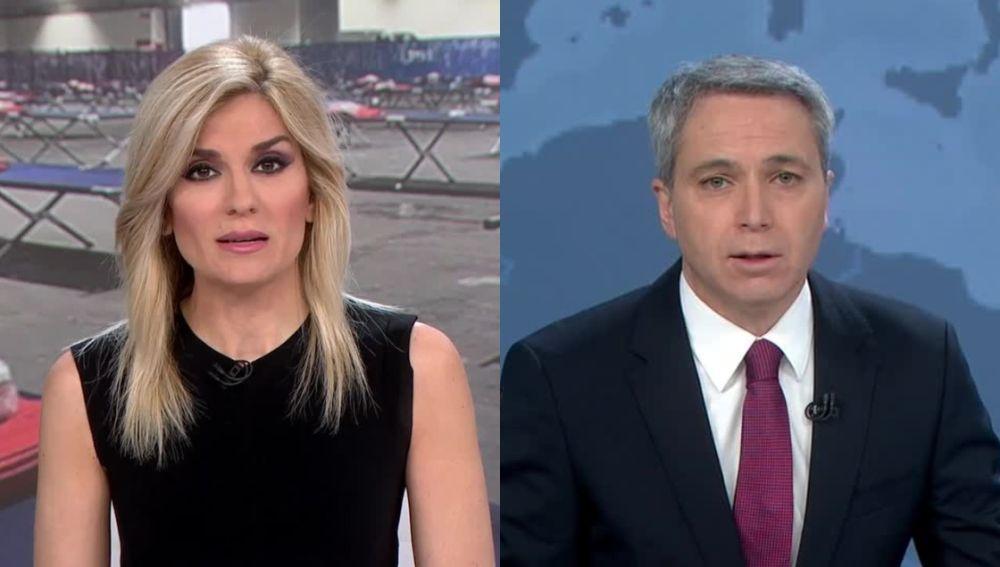 Sandra Golpe y Vicente Vallés