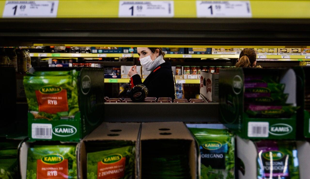 Imagen de archivo de un supermercado