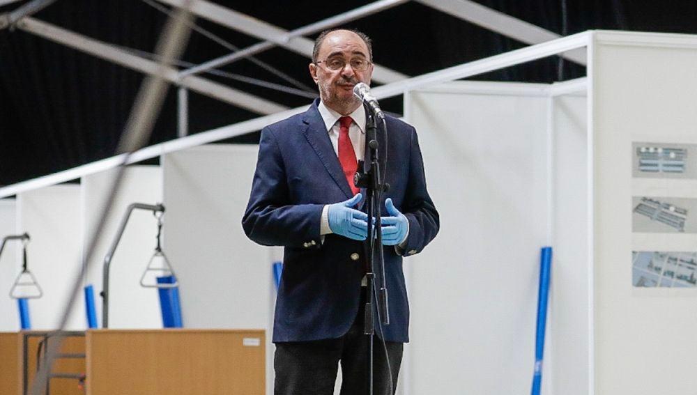 Javier Lambán, presidente del Gobierno de Aragón, en el Auditorio de Zaragoza