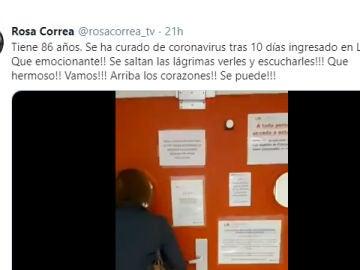 Tuit de @rosacorrea_tv