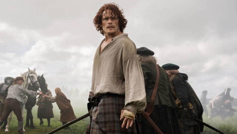 Sam Heughan como Jamie Fraser en 'Outander'
