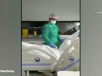 EL emotivo vídeo de entre un paciente y su familia tras respirar por sí solo