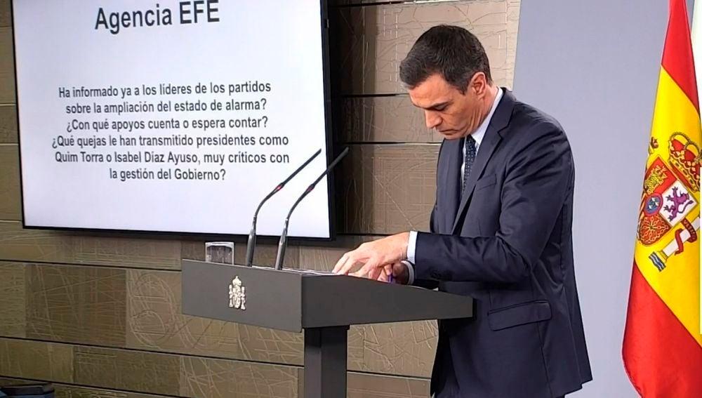 """A3 Noticias Fin de Semana (28-03-20) Pedro Sánchez: """"Todos los trabajadores de actividades no esenciales deberán quedarse en casa durante las próximas dos semanas"""""""