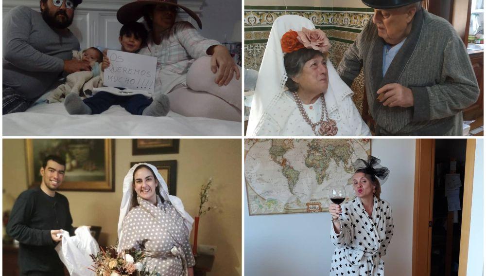 Una pareja 'se casa' confinada en su domicilio por el coronavirus tras la sorpresa de sus familiares