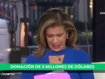 Drew Brees, jugador de la NFL, anuncia una donación de cinco millones de dólares contra el coronavirus y la presentadora rompe a llorar de la emoción