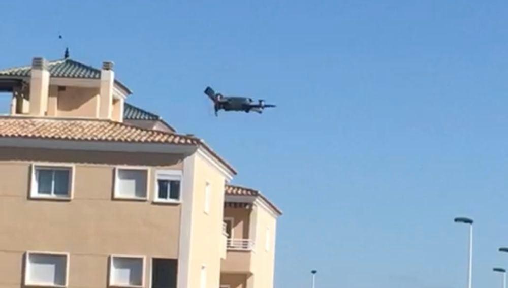 El dron de la Policía Local de Elche se encuentra trabajando desde este pasado fin de semana.