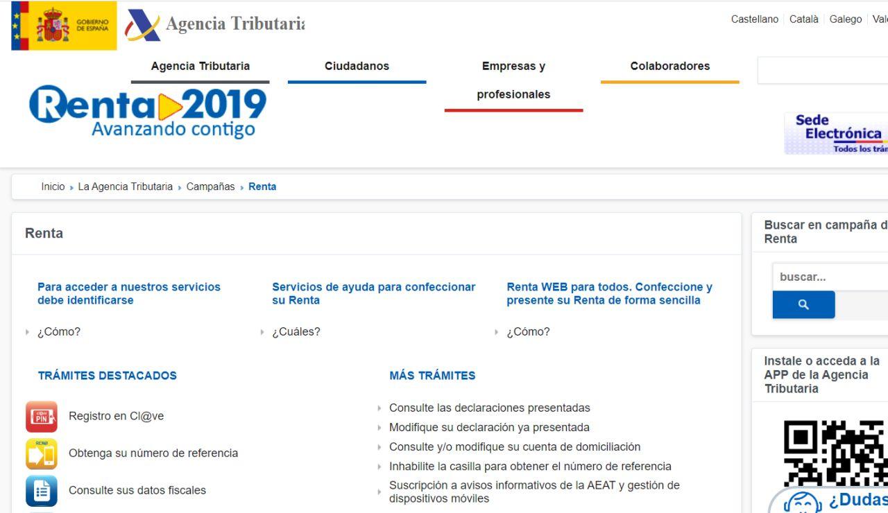 Renta 2019: Cómo consultar los datos fiscales paso a paso