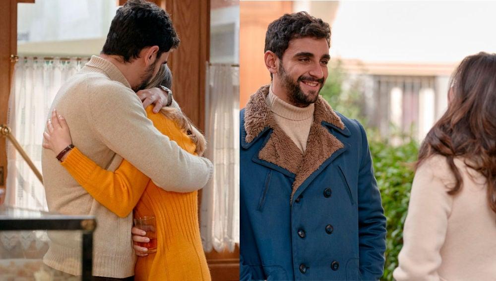 Amelia y Luisita se despiden de Sebas con mucho cariño