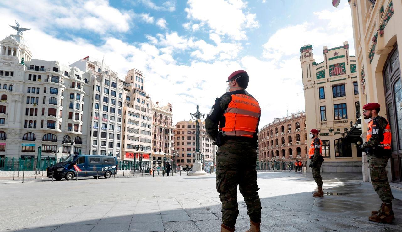 Policías militares, en las calles de Valencia