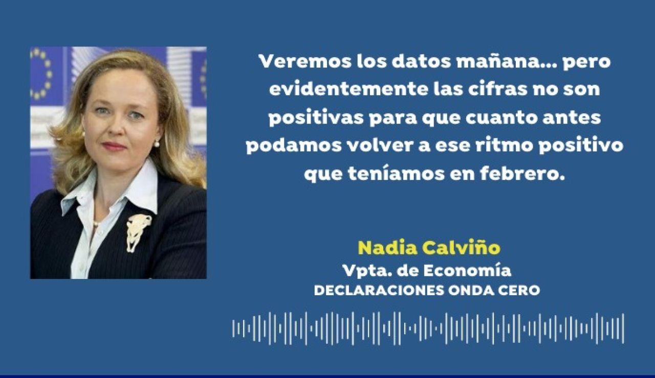 Coronavirus. Nadia Calviño