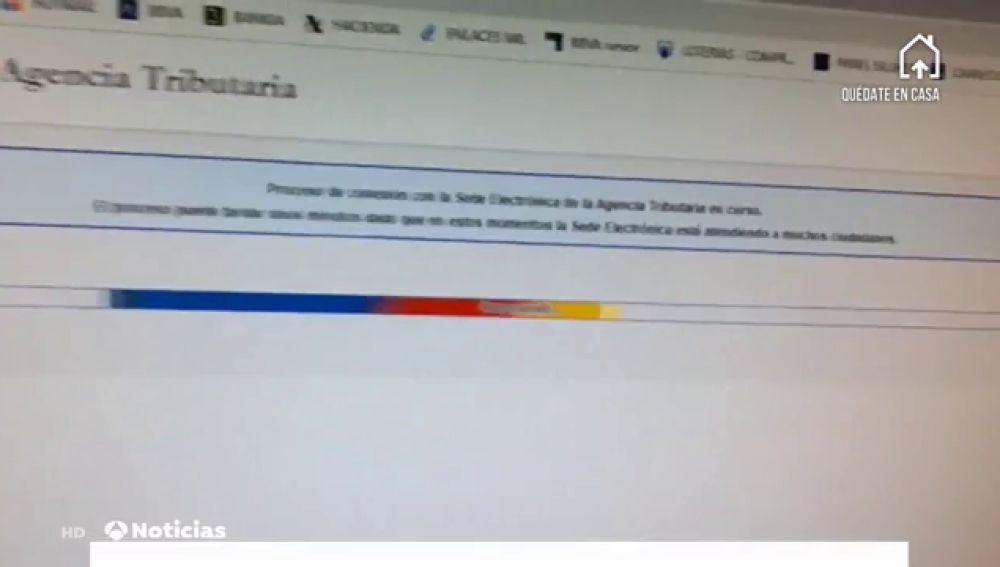 La página web de Hacienda se colapsa en el arranque de la campaña de la renta marcada por el coronavirus