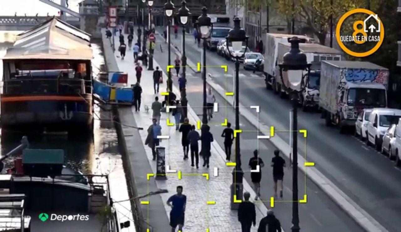Los 'runners' invaden las calles de París en pleno confinamiento por el coronavirus