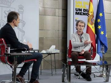 Pedro Duque y Fernando Simón