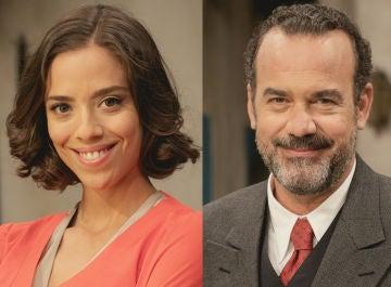 Laura Minguell y Manuel Regueiro, Marta y Don Ignacio en 'El secreto de Puente Viejo'