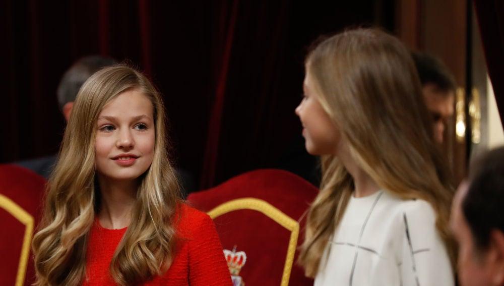La princesa Leonor y su hermana la infanta Sofía