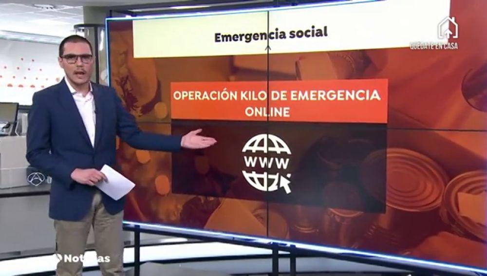 Se lanza una 'Operación kilo online' para reforzar la red asistencial y la labor de los bancos de alimentos