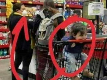 Niños en el supermercado