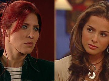Lorena Meritano y Danna García como Dinora Rosales y Norma Elizondo en 'Pasión de Gavilanes'