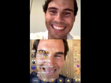 Nadal y Federer en directo