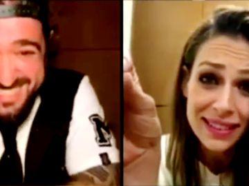 El divertido reencuentro de Antonio Orozco con Eva González