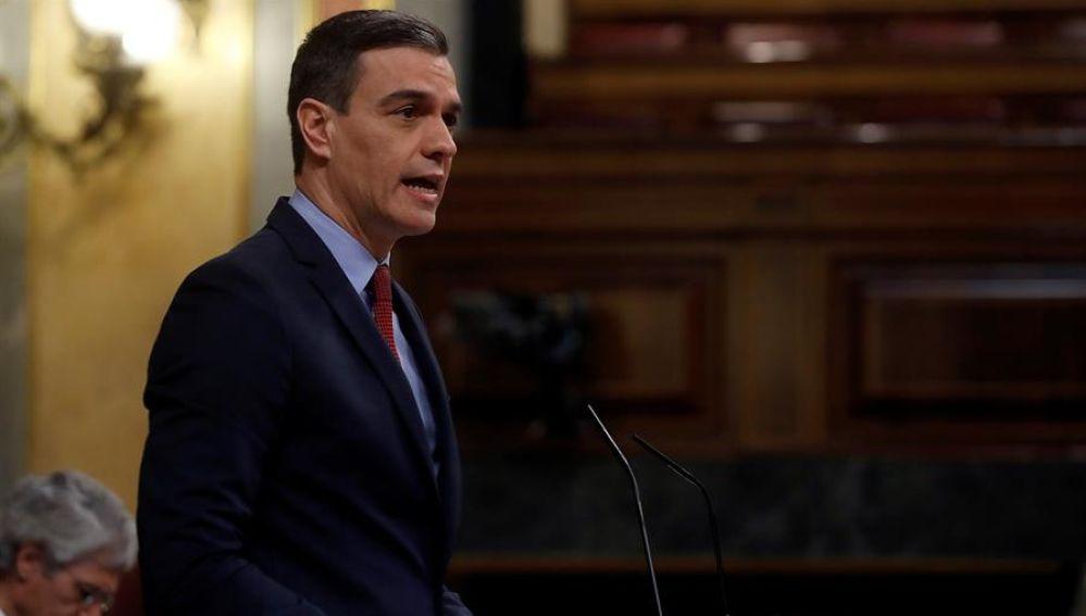Pedro Sánchez comparece en el Congreso para pedir una prórroga del estado de alarma