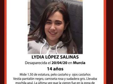 Menor desaparecida en Murcia durante el confinamiento