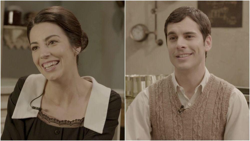Trucos de caracterización y una tentación irresistible, los secretos de Almudena Cid y Adrián Expósito en Puente Viejo