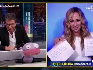 ¡Increíble!: Marta Sánchez versiona la canción de 'El Hormiguero 3.0' y se lo dedica a Trancas y Barrancas