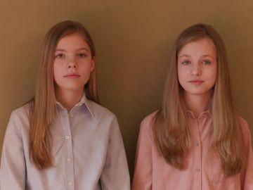 """El mensaje agradecimiento de Leonor y Sofía a los que ayudan durante la crisis de coronavirus:""""Todos sois importantes"""""""