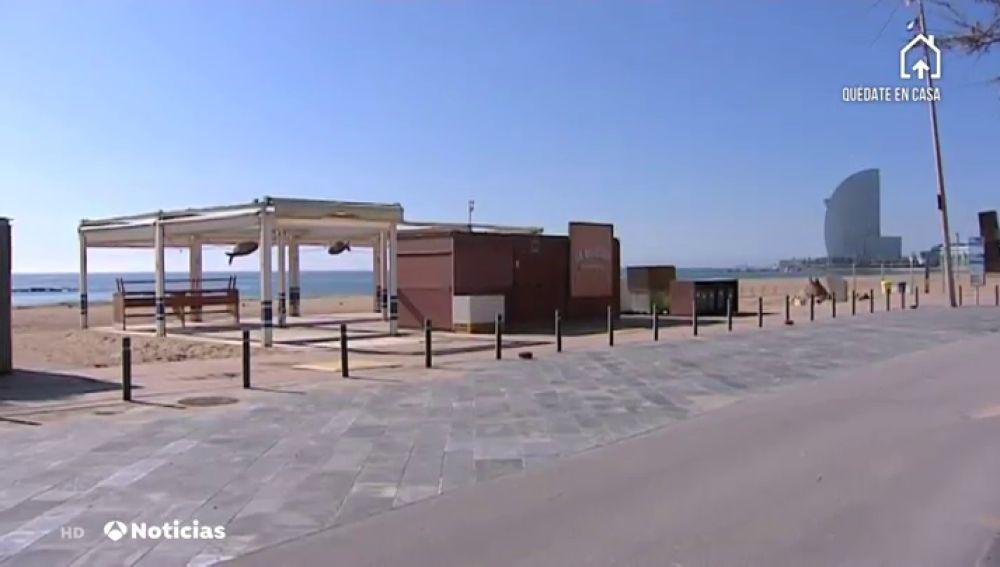 Barcelona se queda sin chiringuitos durante el verano por el coronavirus