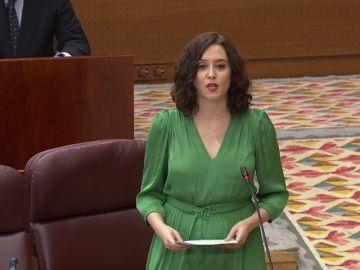 """Isabel Díaz Ayuso, presidenta de la CAM sobre la gestión del coronavirus: """" no estoy orgullosa, pero Madrid ayudó a espabilar a España"""""""