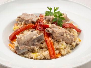 Receta de arroz integral con costilla de cerdo