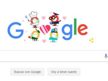 Doodle de Google por el coronavirus