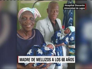 Margaret Adenuga y su marido, Noah Adenuga, de 77