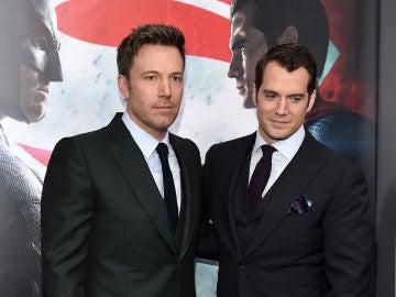 Ben Affleck y Henry Cavill tras 'Batman v Superman'