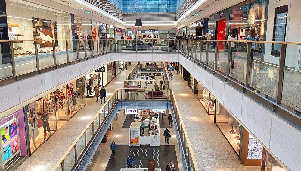 Imagen de archivo de un centro comercial