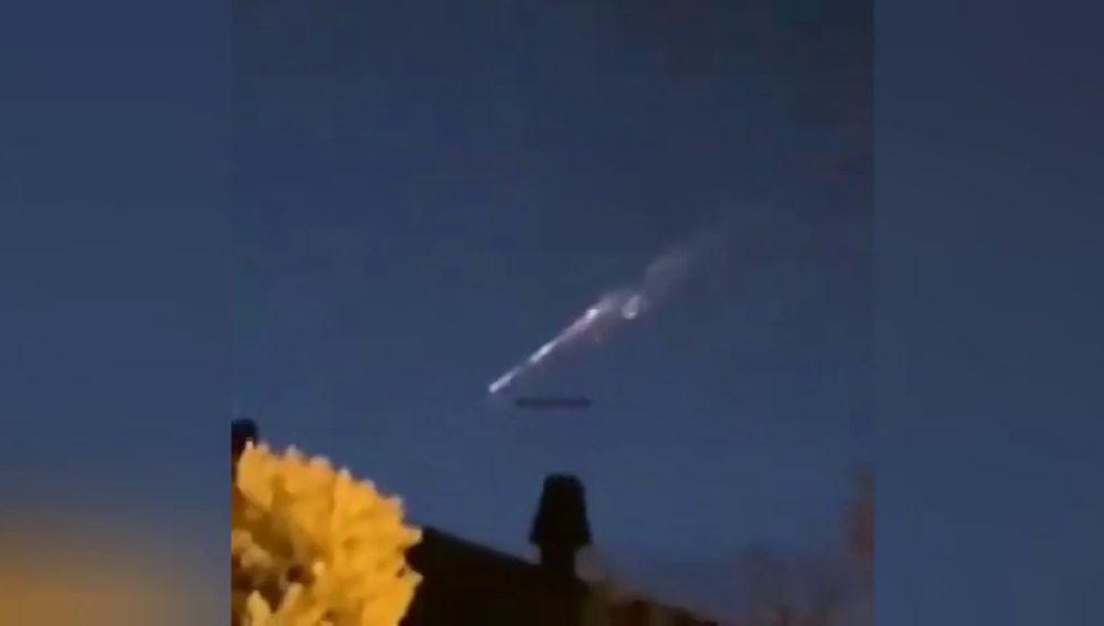 Un meteorito es avistado en Galicia cruzando el cielo como una bola de fuego