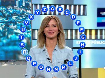 Susanna Griso prueba el nuevo rosco de 'Pasapalabra'