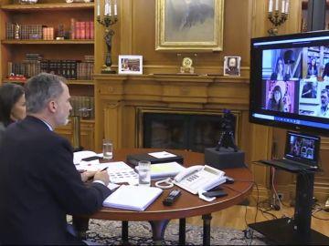 Los Reyes hablan con Nadal, Gasol, Alonso y Banderas de la recuperación de la imagen de España tras el coronavirus