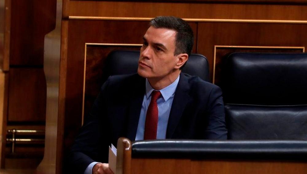 Imagen de archivo del presidente del Gobierno, Pedro Sánchez, en el COngreso de los DIputados.