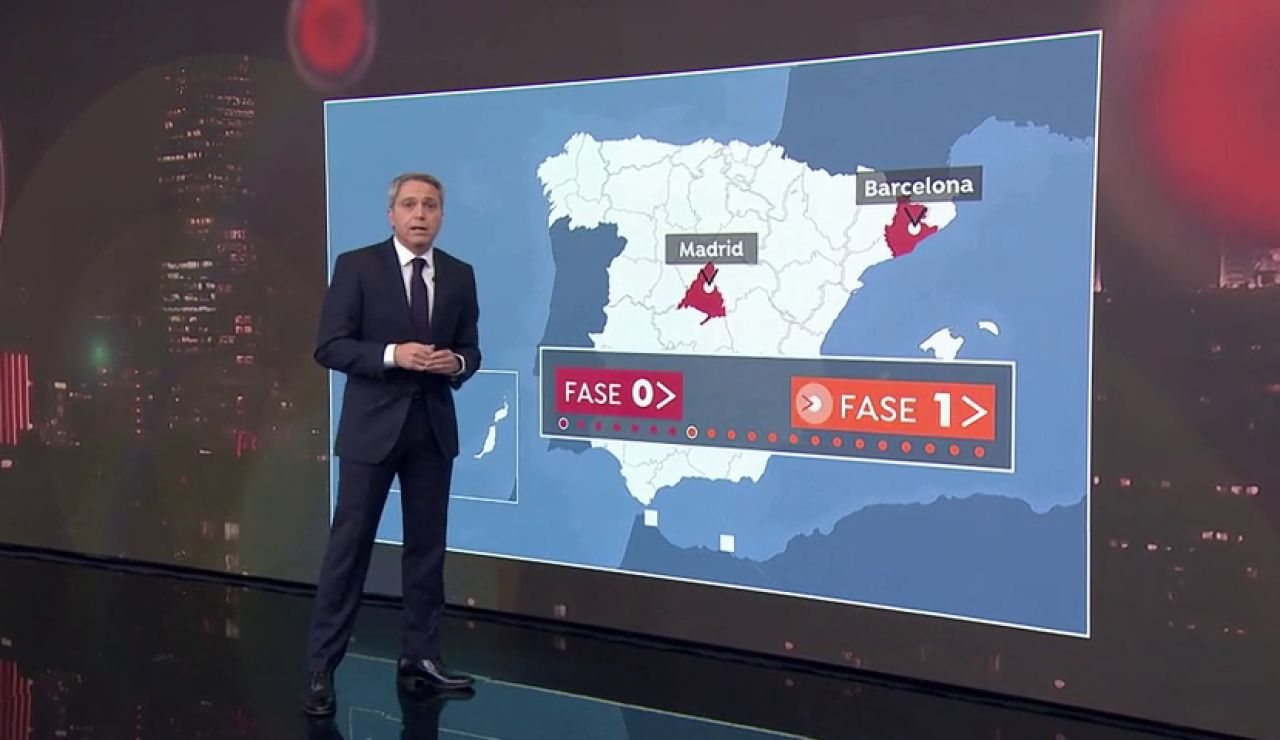Madrid y Barcelona: principales focos de actividad... principales focos de coronavirus