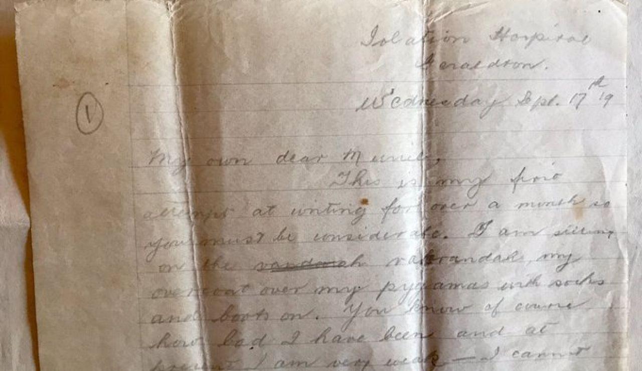 La carta del hombre enfermo de gripe española