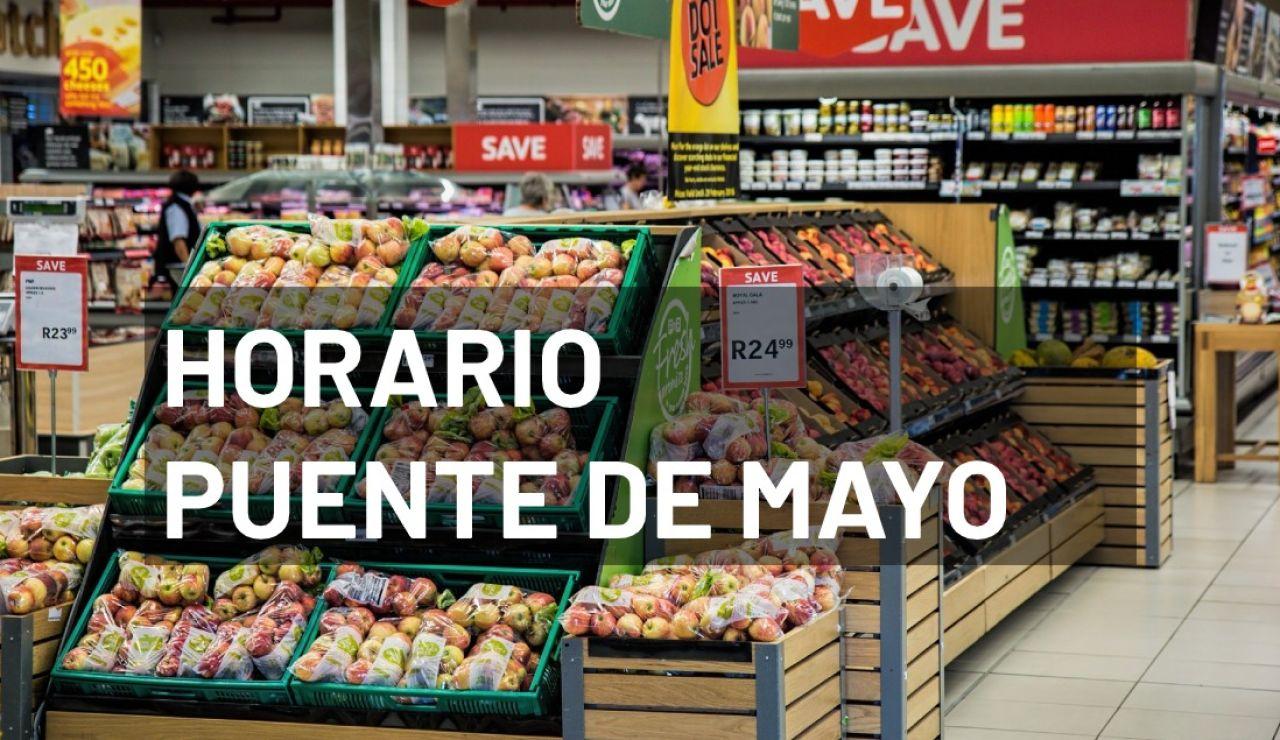 Horario de los supermercados durante el puente de mayo