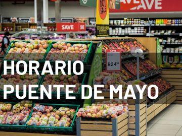 Coronavirus: Horario de los supermercados en el puente de mayo
