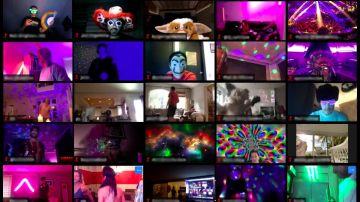 Fiestas virtuales en casa