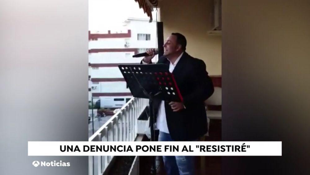 Enfado de un vecino en Nerja: si cantas 'Resistire' te denuncio