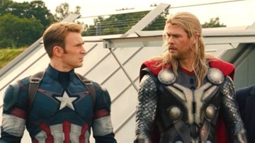Chris Evans y Chris Hemsworth como Capitán América y Thor