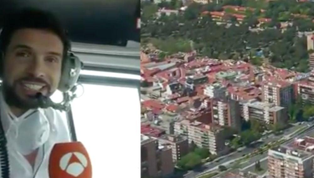Antena 3 Noticias graba desde el aire la ciudad de Madrid