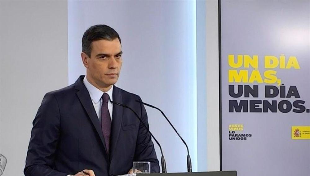 Pedro Sánchez en rueda de prensa tras reunirse con el comité técnico del coronavirus